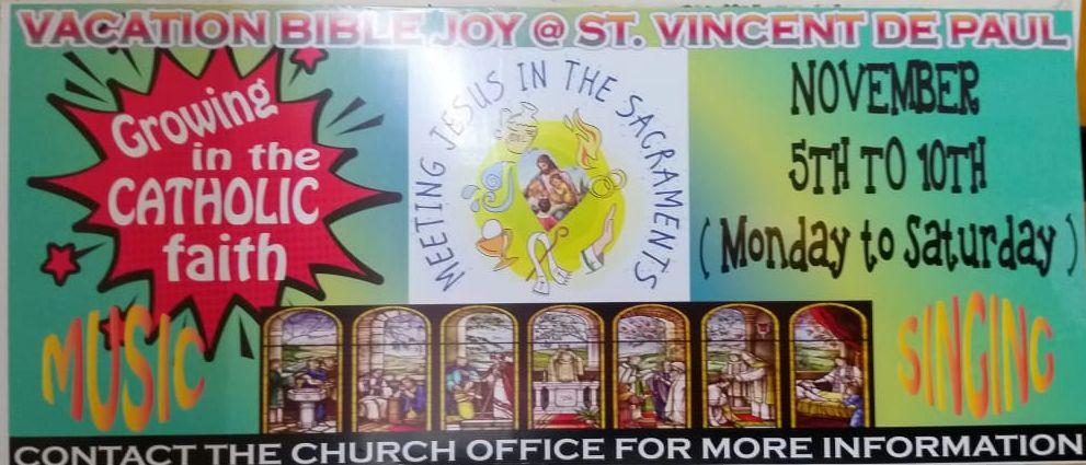 VACATION BIBLE JOY…   | St Vincent De Paul Church Khar